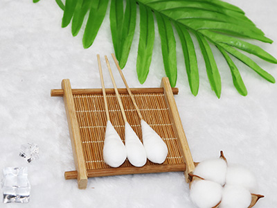 "6"" Bamboo medical Gynecological examination cotton buds applicator"