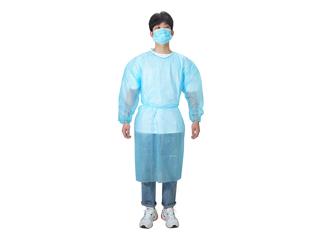 Disposable Non Woven Blue Isolation Gown