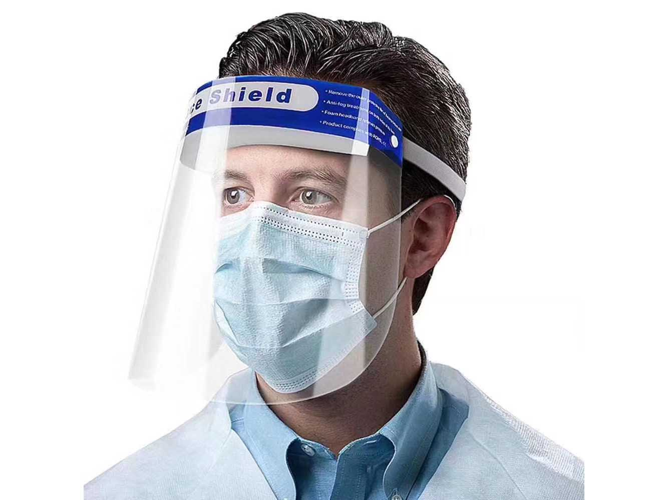 Disposable Protective Face Shield in PET