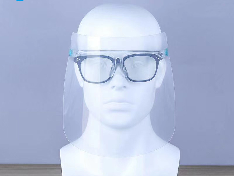 Disposable PPE Safety Transparent Double Side Anti-fog Isolation Protective  Eye Frame Face Shield